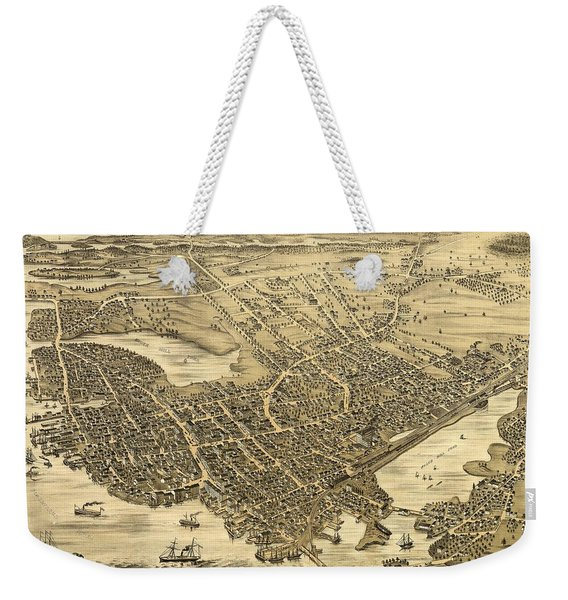 Portsmouth New Hampshire 1877 Weekender Tote Bag