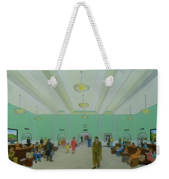 Portsmouth Ohio Train Station Interior 1940s Weekender Tote Bag
