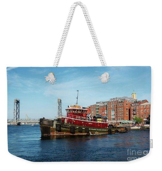 Portsmouth Tug Weekender Tote Bag