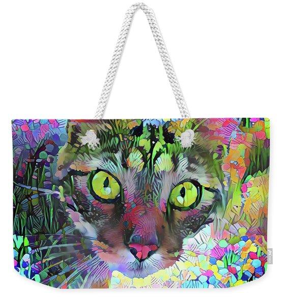 Posie The Tabby Cat Weekender Tote Bag