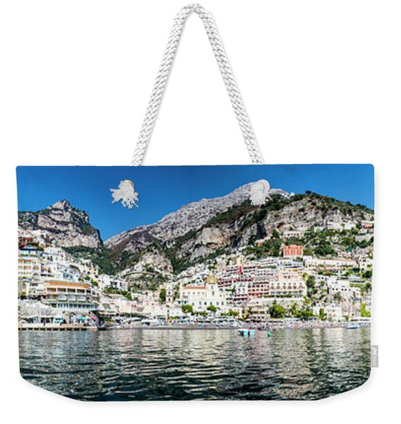 Positano From The Sea - Panorama I Weekender Tote Bag