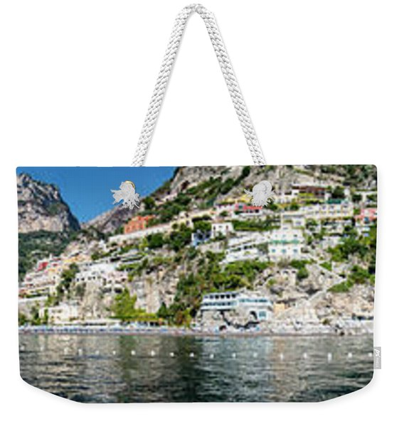 Positano From The Sea - Panorama II Weekender Tote Bag