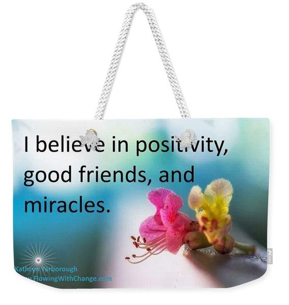 Positivity Weekender Tote Bag