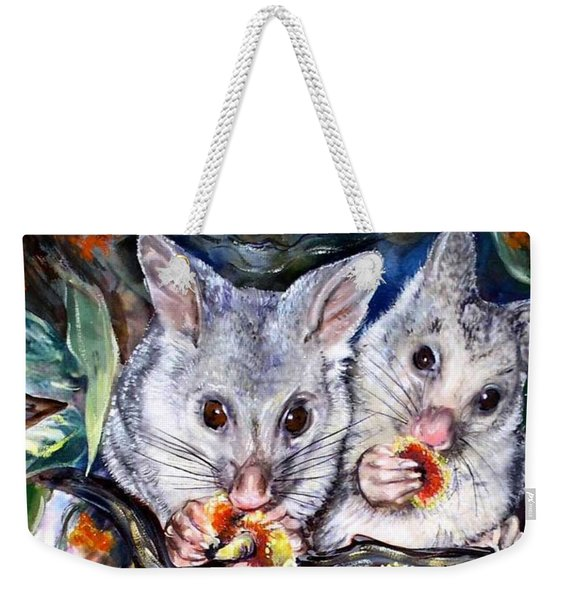 Possum Family Weekender Tote Bag