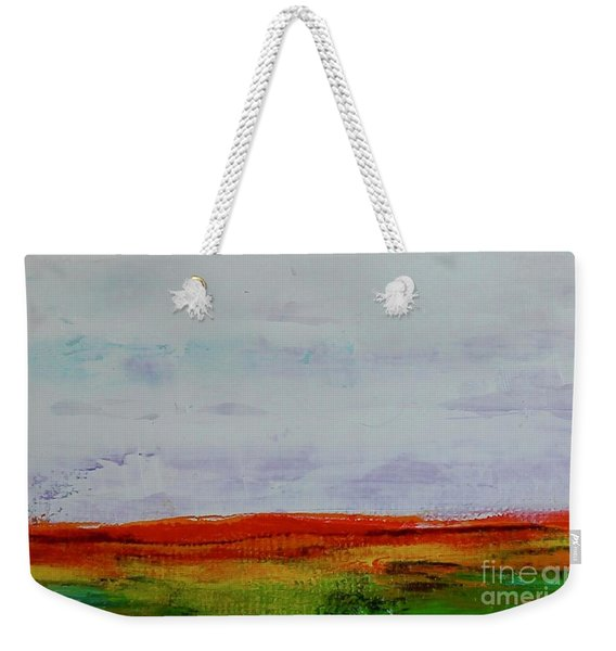 Weekender Tote Bag featuring the painting Post Apocalypse by Kim Nelson