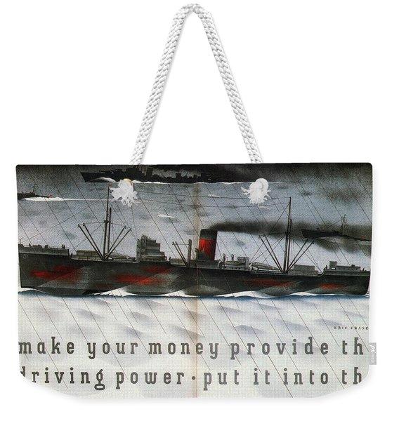 Post Office Savings Bank - Steamliner - Retro Travel Poster - Vintage Poster Weekender Tote Bag