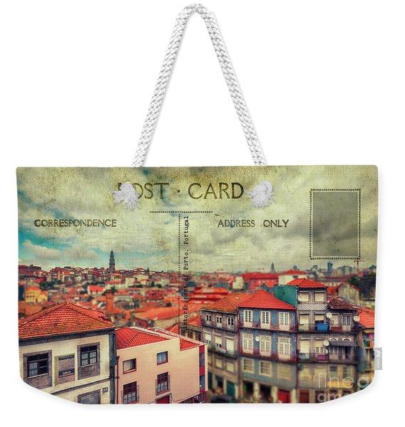 postcard of Porto Weekender Tote Bag