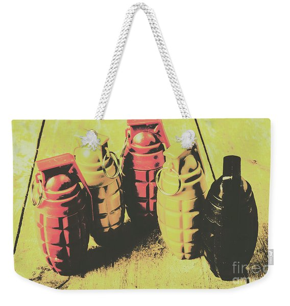 Posterized Granade Art Weekender Tote Bag