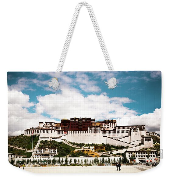 Potala Palace Dalai Lama Home Place In Tibet Kailash Yantra.lv 2016  Weekender Tote Bag