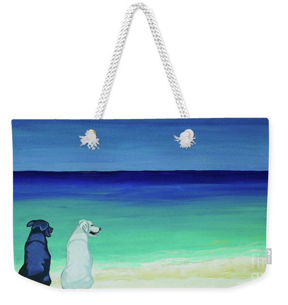 Lab Potcake Dogs On The Beach Weekender Tote Bag