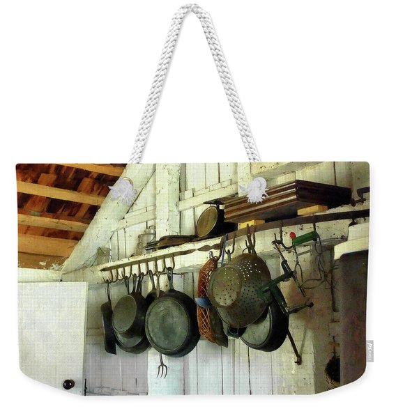 Pots In Kitchen Weekender Tote Bag
