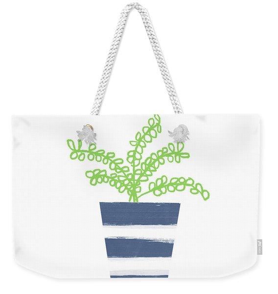 Potted Plant 1- Art By Linda Woods Weekender Tote Bag