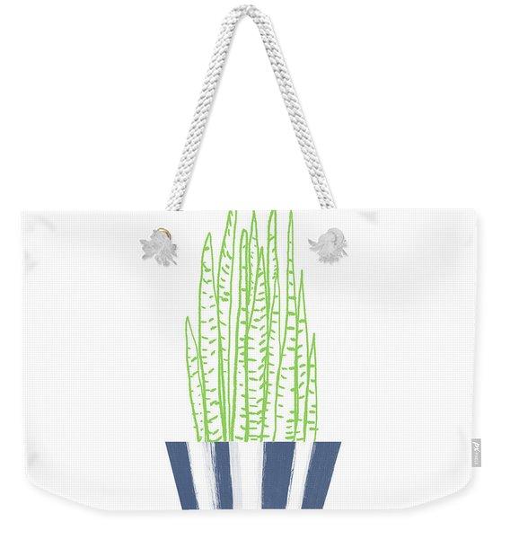Potted Succulent 3- Art By Linda Woods Weekender Tote Bag