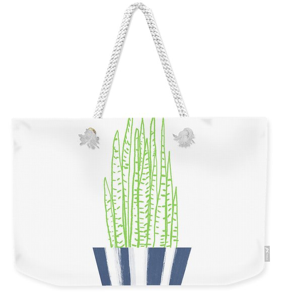 Potted Succulent 3- Art By Linda Woods Weekender Tote Bag