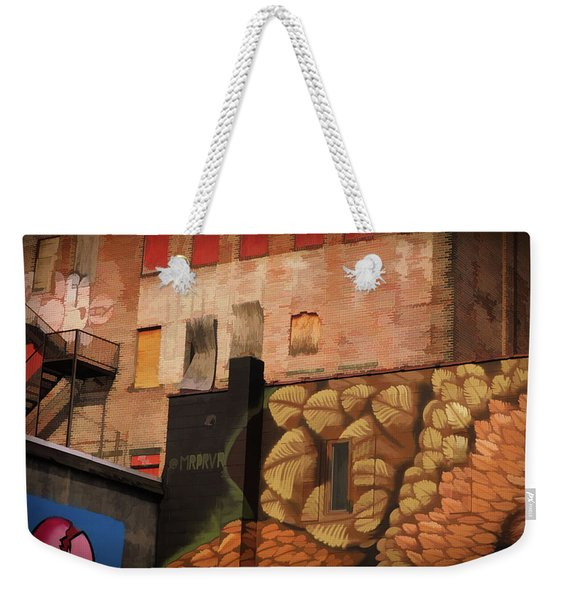 Weekender Tote Bag featuring the photograph Poughkeepsie Street Art by Nancy De Flon