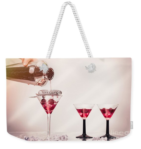 Pouring A Cocktail Weekender Tote Bag