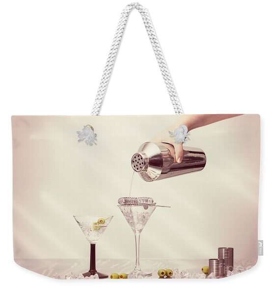 Pouring A Martini Weekender Tote Bag