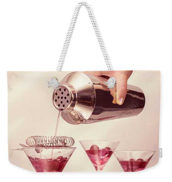 Pouring Cocktails Weekender Tote Bag