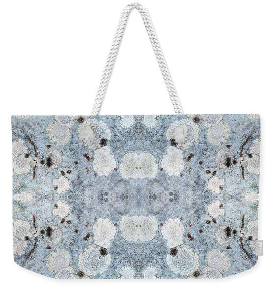 Powder Blue Pattern Weekender Tote Bag
