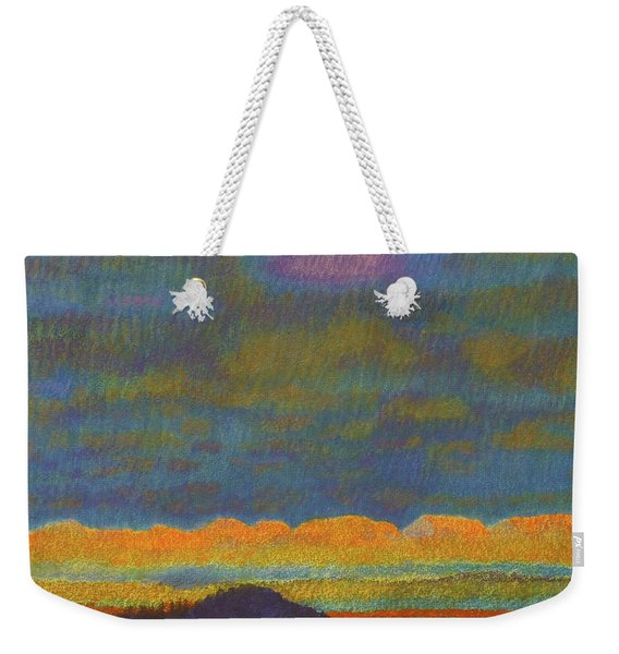 Weekender Tote Bag featuring the painting Powder River Reverie, 1 by Cris Fulton