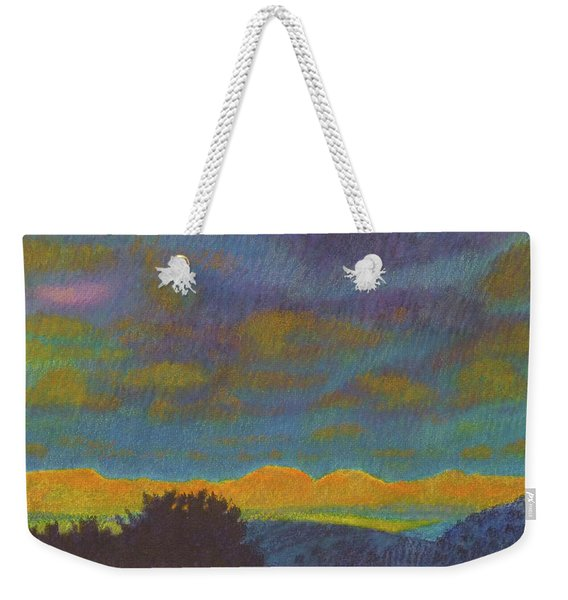 Weekender Tote Bag featuring the painting Powder River Reverie, 2 by Cris Fulton