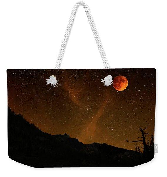 Power Blood Moon Weekender Tote Bag