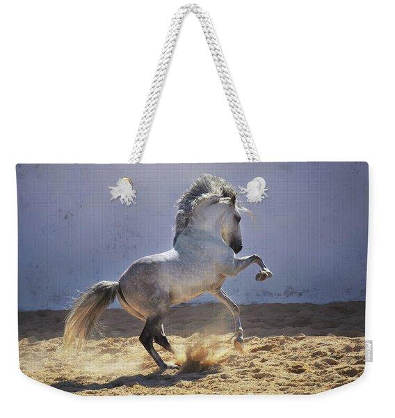 Power In Motion Weekender Tote Bag