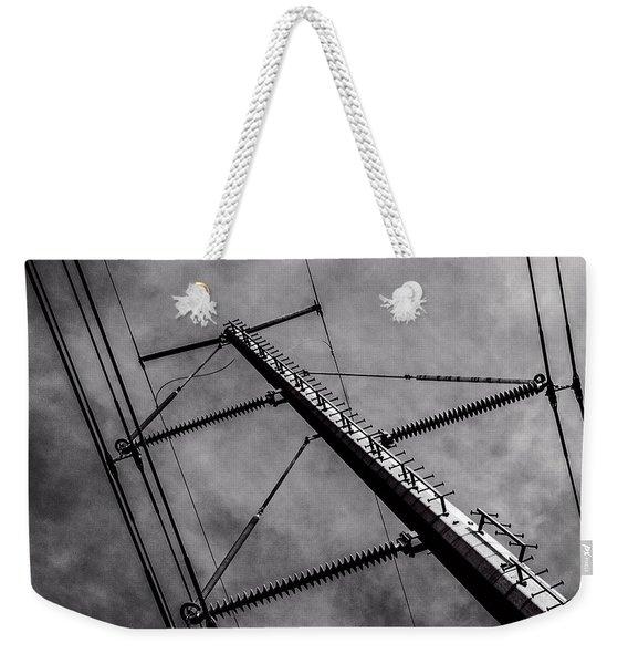 Power Line Sky Weekender Tote Bag
