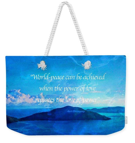Power Of Love Weekender Tote Bag