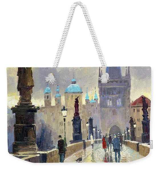Prague Charles Bridge 02 Weekender Tote Bag