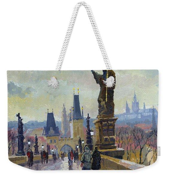 Prague Charles Bridge 04 Weekender Tote Bag