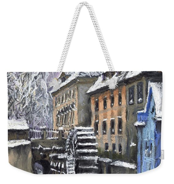 Prague Chertovka Winter Weekender Tote Bag