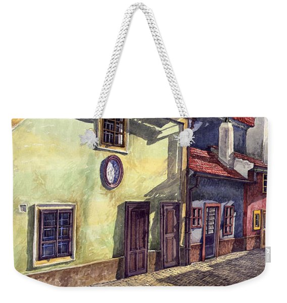 Prague Golden Line Street Weekender Tote Bag