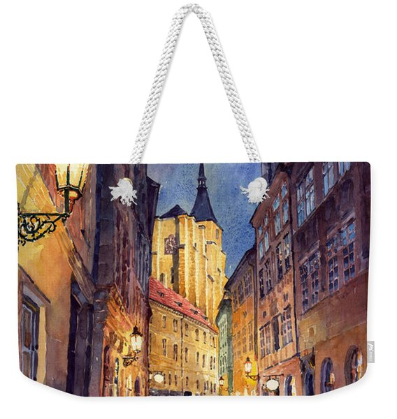 Prague Husova Street Weekender Tote Bag