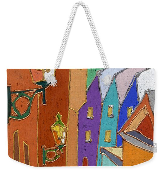 Prague Old Steps Winter Weekender Tote Bag