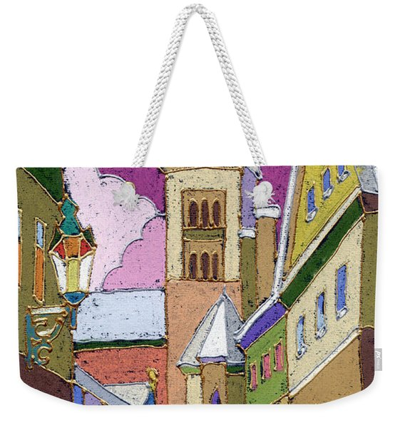 Prague Old Street Jilska Winter Weekender Tote Bag