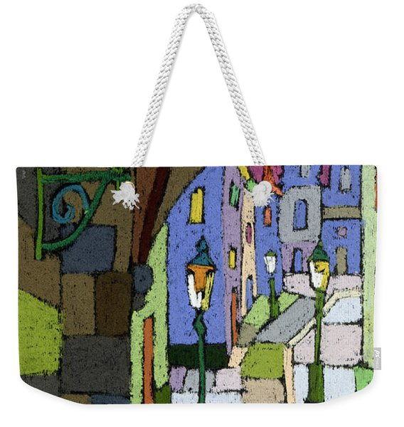 Prague Old Street Mostecka Weekender Tote Bag