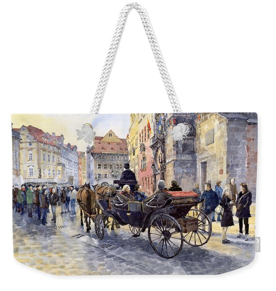 Prague Old Town Hall And Astronomical Clock Weekender Tote Bag