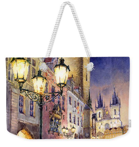 Prague Old Town Square 3 Weekender Tote Bag