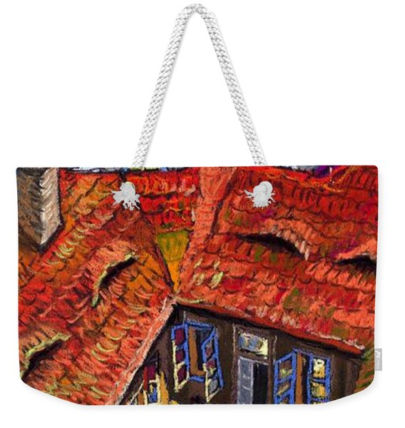 Prague Roofs 01 Weekender Tote Bag