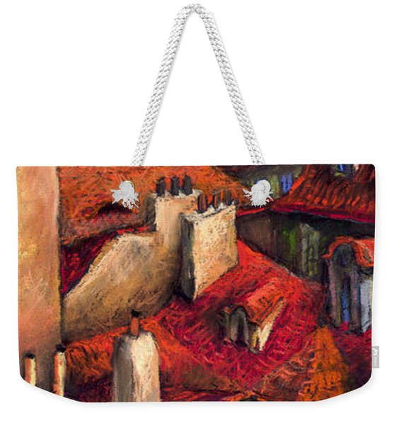Prague Roofs Weekender Tote Bag