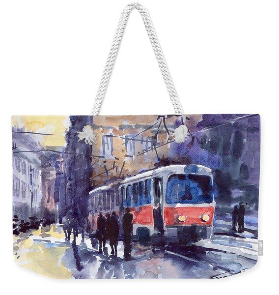 Prague Tram 02 Weekender Tote Bag
