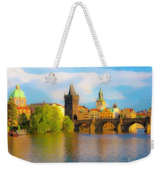 Praha - Prague - Illusions Weekender Tote Bag