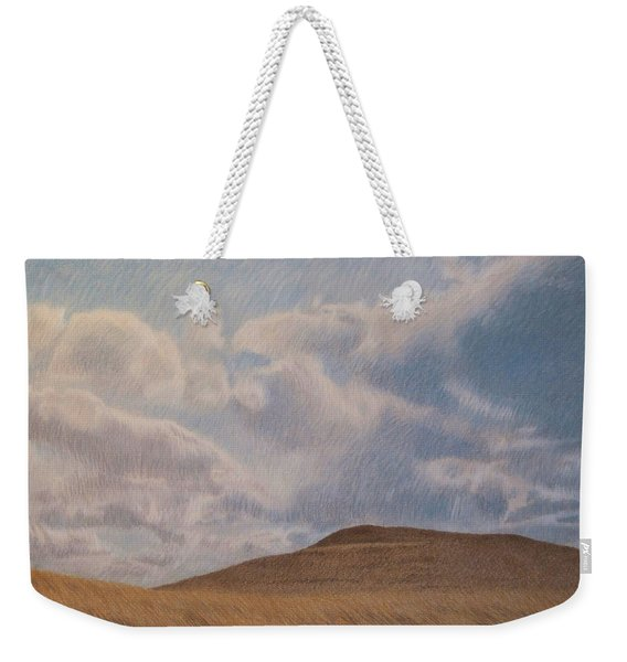 Weekender Tote Bag featuring the pastel Prairie Hill by Cris Fulton