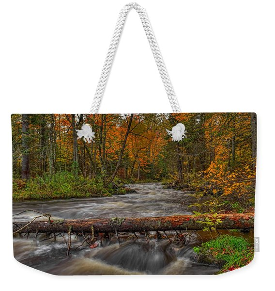 Prairie River Tree Crossing Weekender Tote Bag