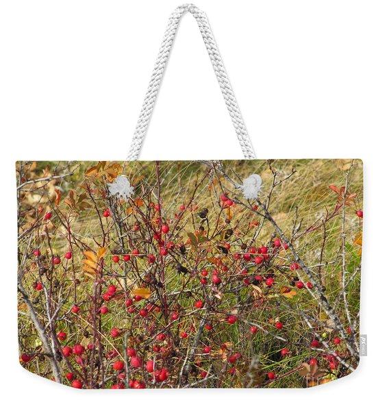 Prairie Rosehips Weekender Tote Bag