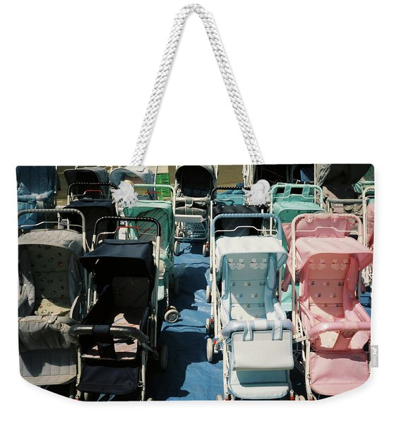 Weekender Tote Bag featuring the photograph Pram Lot by Frank DiMarco