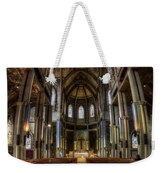 Our Lady Of Nahuel Huapi Cathedral In The Argentine Patagonia Weekender Tote Bag