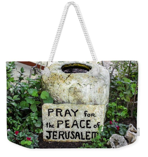 Pray For The Peace Of Jerusalem Weekender Tote Bag