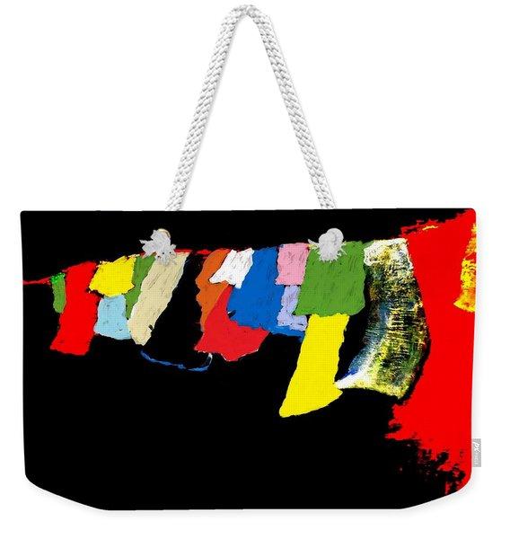 Prayers - Unanswered-interrupted Weekender Tote Bag